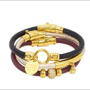 HENRI BENDEL leather bracelets gold hardware